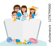 happy family portrait. set of... | Shutterstock .eps vector #1278799000
