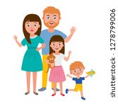 big happy family portrait. set... | Shutterstock .eps vector #1278799006