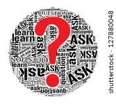 ask questions info text word... | Shutterstock . vector #127880048