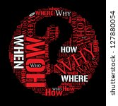 where who why how when info... | Shutterstock . vector #127880054