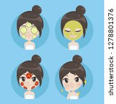the girls maintain a natural... | Shutterstock .eps vector #1278801376