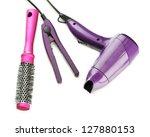 hair dryer  straighteners and... | Shutterstock . vector #127880153