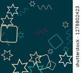 geometric memphis background.... | Shutterstock .eps vector #1278802423