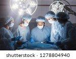 surgeons team during operation... | Shutterstock . vector #1278804940