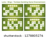 set of bingo   lotto   tombala... | Shutterstock .eps vector #1278805276