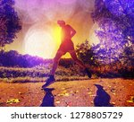 abstract  over filtered. man is ... | Shutterstock . vector #1278805729