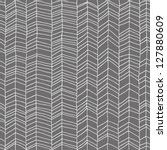 Hand Drawn Gray Chevron Patter...