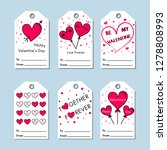 vector valentine's day cards... | Shutterstock .eps vector #1278808993