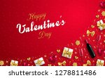 valentines day banner or... | Shutterstock .eps vector #1278811486