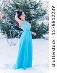 greece woman in blue long... | Shutterstock . vector #1278812239