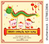 a chinese new year of the pig... | Shutterstock .eps vector #1278812806