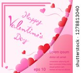 lettering happy valentine's day ... | Shutterstock .eps vector #1278813040
