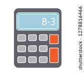 vector calculator icon math... | Shutterstock .eps vector #1278816466