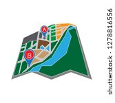 navigation map icon location... | Shutterstock .eps vector #1278816556