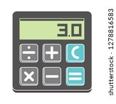 vector calculator icon math... | Shutterstock .eps vector #1278816583