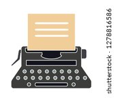 typewriter machine icon ... | Shutterstock .eps vector #1278816586
