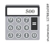 vector calculator icon math... | Shutterstock .eps vector #1278816589