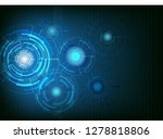 abstract blue technology... | Shutterstock .eps vector #1278818806