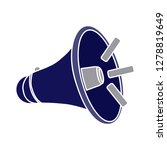 vector megaphone icon loud sign ... | Shutterstock .eps vector #1278819649