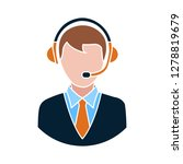 24 7 customer service icon... | Shutterstock .eps vector #1278819679