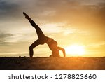 young healthy woman practicing... | Shutterstock . vector #1278823660