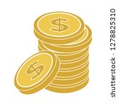 money coins icon  savings... | Shutterstock .eps vector #1278825310