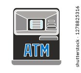 atm machine icon  lock symbol... | Shutterstock .eps vector #1278825316