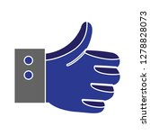 best hand like ok yes icon... | Shutterstock .eps vector #1278828073