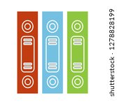row of binders flat icon... | Shutterstock .eps vector #1278828199