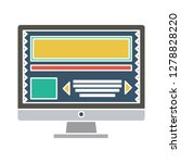 computer screen icon monitor... | Shutterstock .eps vector #1278828220