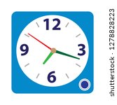 clock alarm icon alarm sign... | Shutterstock .eps vector #1278828223