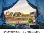 view from inside of tent with... | Shutterstock . vector #1278832393