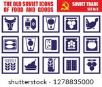 the old soviet icons of food... | Shutterstock .eps vector #1278835000