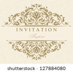 wedding invitation cards... | Shutterstock .eps vector #127884080
