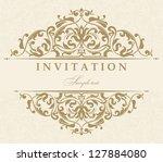 wedding invitation cards... | Shutterstock .eps vector #127884080