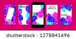 stories template design. tropic ... | Shutterstock .eps vector #1278841696