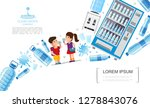 flat clear water composition   Shutterstock .eps vector #1278843076
