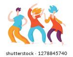 spontaneous dancing people.... | Shutterstock .eps vector #1278845740