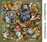picnic hand drawn vector... | Shutterstock .eps vector #1278849436