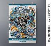 winter sport doodles poster... | Shutterstock .eps vector #1278849469