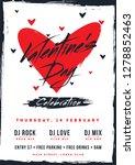 retro style valentine's day... | Shutterstock .eps vector #1278852463