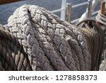 old classic tall ship part deck ...   Shutterstock . vector #1278858373