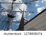 old classic tall ship part deck ...   Shutterstock . vector #1278858376