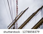 old classic tall ship part deck ...   Shutterstock . vector #1278858379
