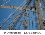 old classic tall ship part deck ...   Shutterstock . vector #1278858400