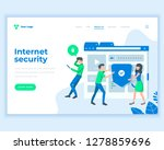 landing page template social... | Shutterstock .eps vector #1278859696
