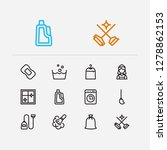 hygiene icons set. cleaning...