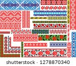 set of 30 editable colorful... | Shutterstock .eps vector #1278870340