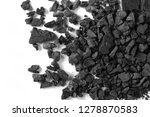 Black Coal Pile Isolated On...