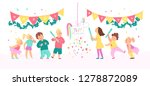 collection of birthday party...   Shutterstock . vector #1278872089